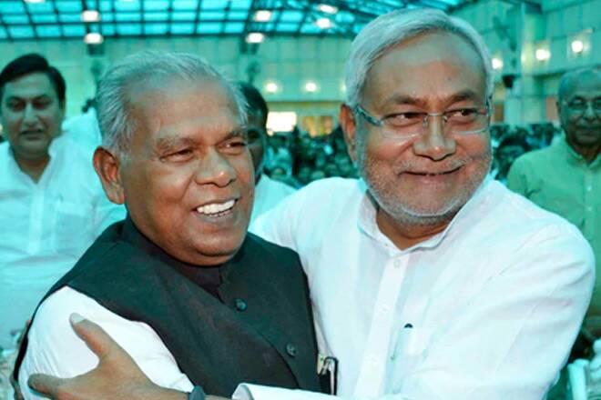 Manjhi Nitish Meeting